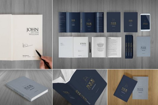 Elegant Hardcover Book Cover Mockup