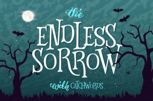 Endless Sorrow - Halloween Font