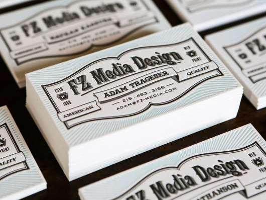 FZ Media Letterpress Card
