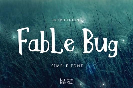 Fable Bug - Slab Serif Font