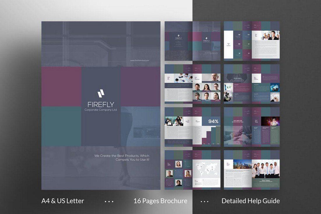 Firefly A4 Brochure Template - 70+ Modern Corporate Brochure Templates
