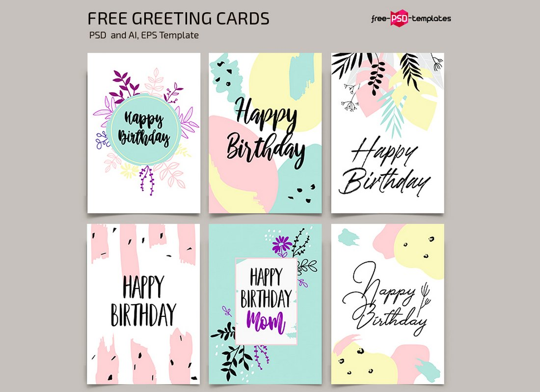 20 Best Greeting Card Templates For Word Photoshop Illustrator Design Shack