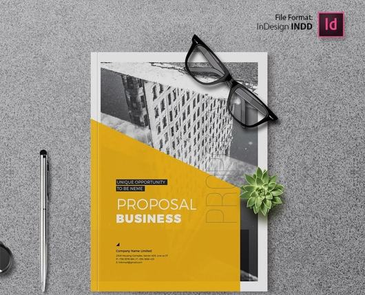 Free Minimal Project Proposal Brochure