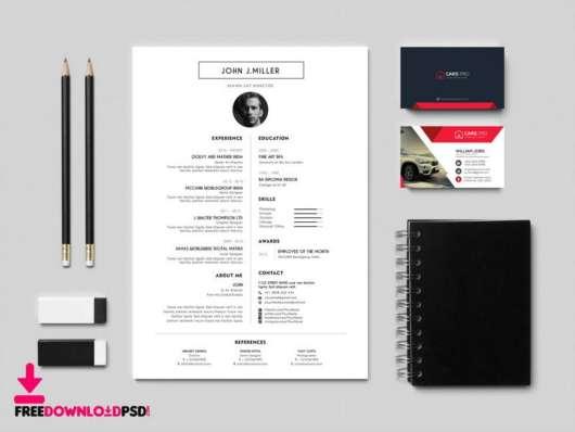 Free Modern Resume CV Template