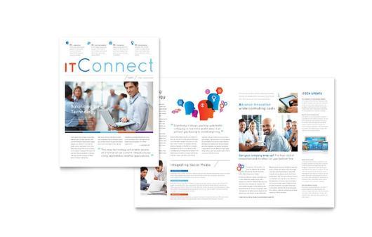 Free Technology Business Newsletter Template 2