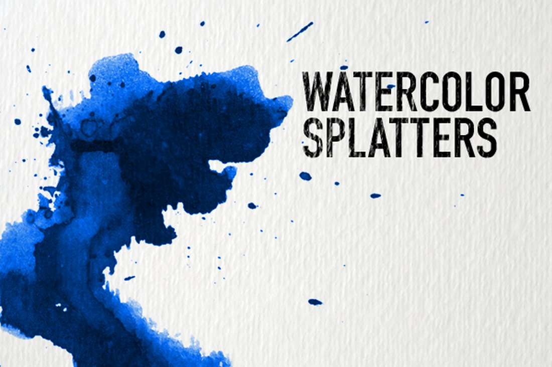 Free Photoshop Watercolor Splatters Brushes
