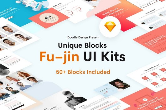 Fu–jin Creative UI Kits Sketch Template