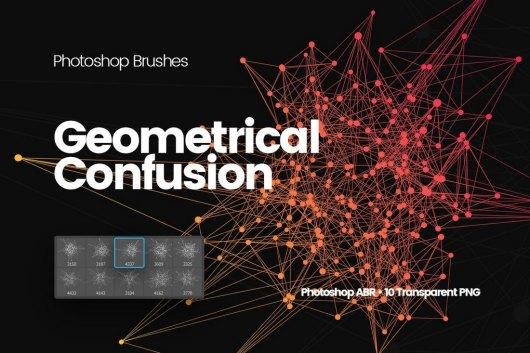 Geometrical Confusion Photoshop Brushes