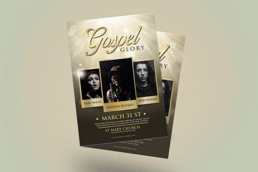 Gospel Glory Church Flyer Template