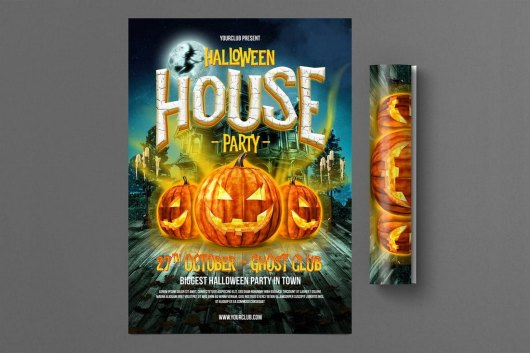 Halloween House Party Flyer