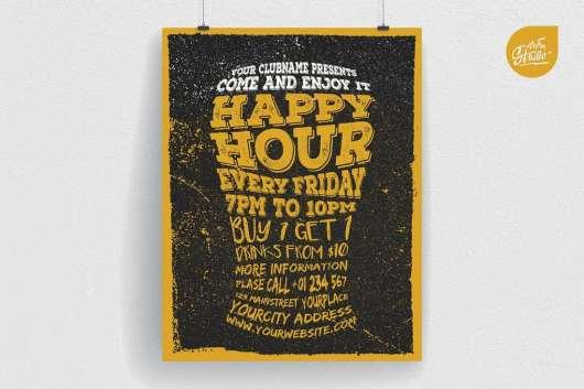 Happy Hour Typography Flyer