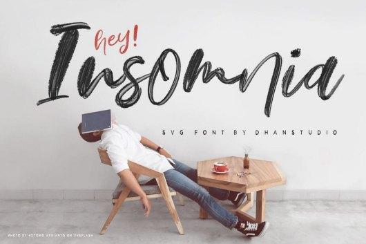 Hey Insomnia - Script SVG Font