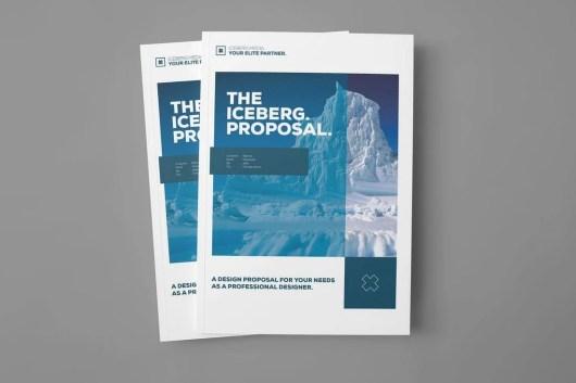 Iceberg - Project Proposal Word Brochure Template