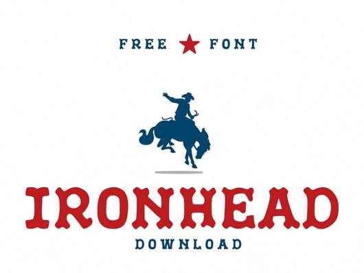 IronHead - Free Font