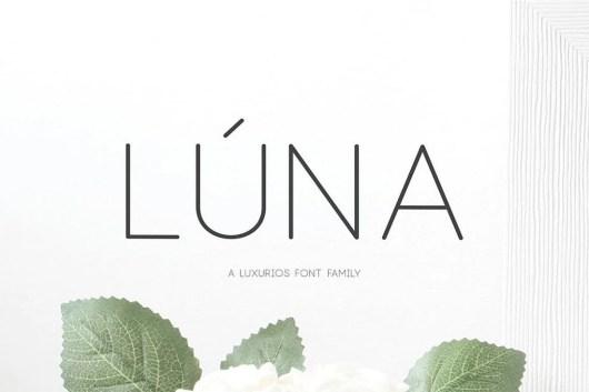 Lúna - A Luxurios Font Family