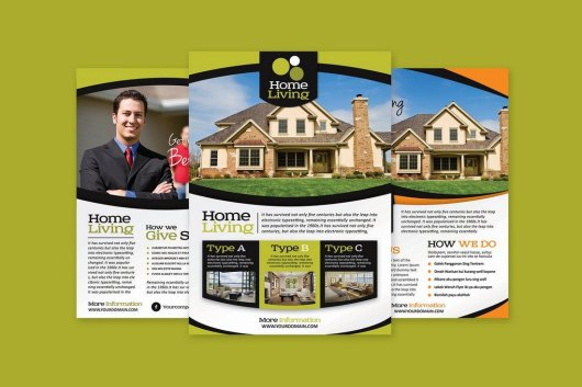 Living Real Estate Flyer Template