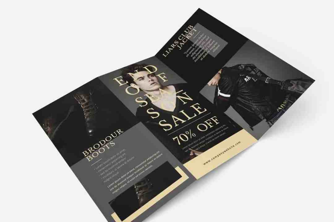 Luxury Fashion Trifold Brochure