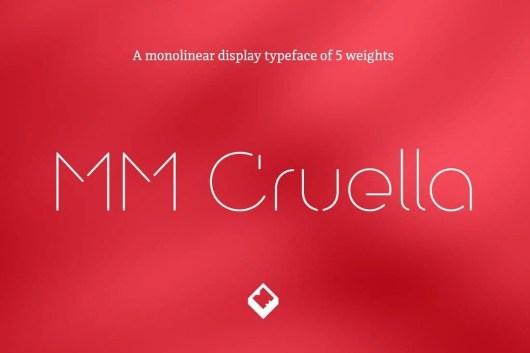 MM Cruella - Luxury Display Font