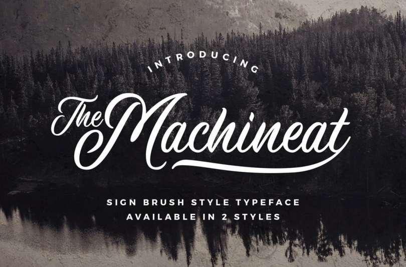 Machineat Script Font