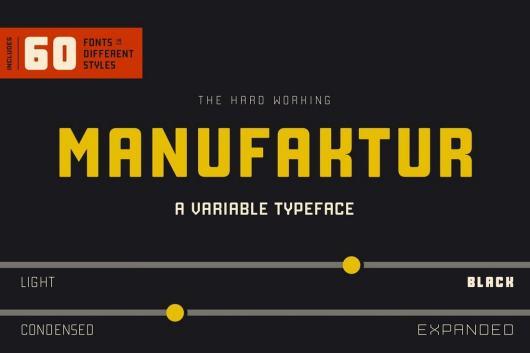 Manufaktur - Bold Fonts for Signs