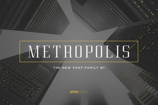 Metropolis Modern Font