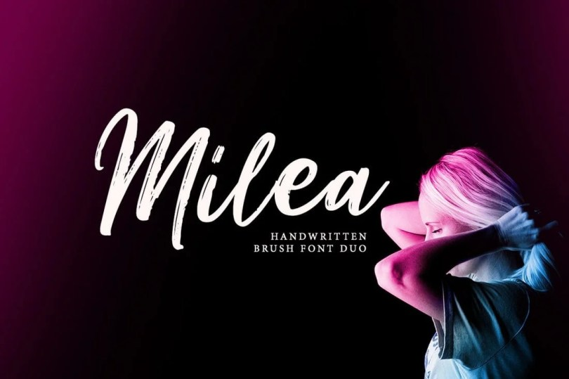 Milea Handwritten Brush Font