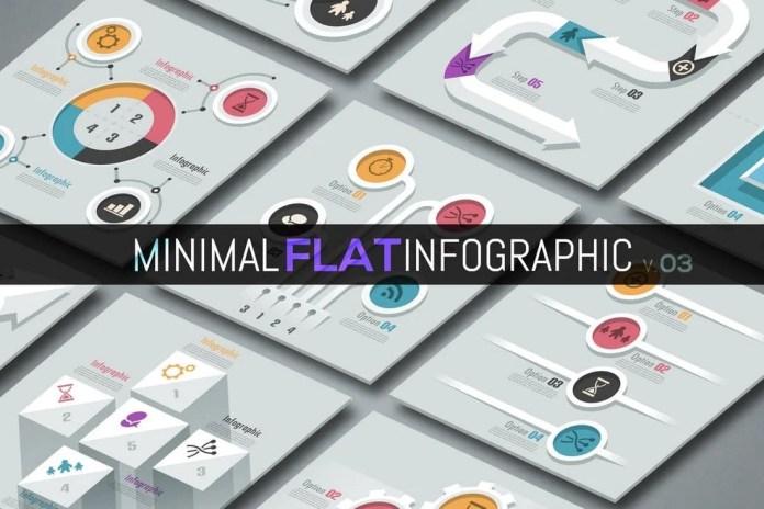 Minimal Flat Infographics v03