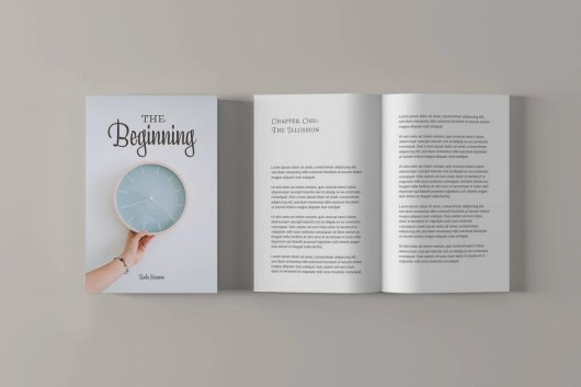 Minimalist Book Cover Mockup