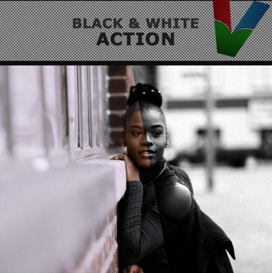Modern Black & White PS Action
