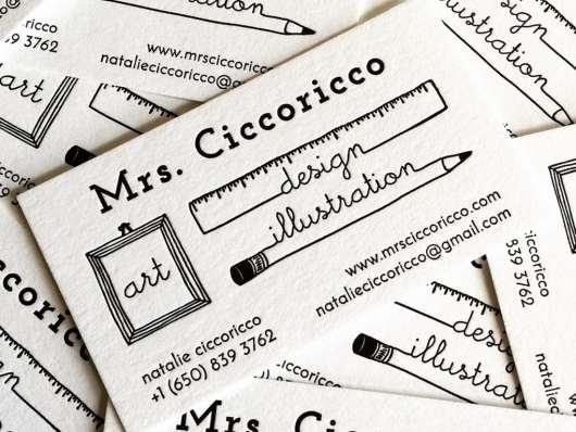 Modern Letterpress Bussiness Card