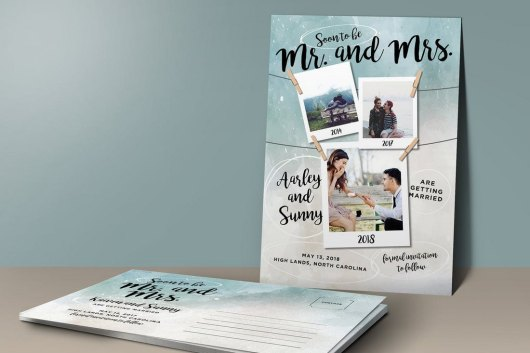 Modern Save the Date Post Card Template