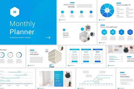 Monthly Planner Keynote Template