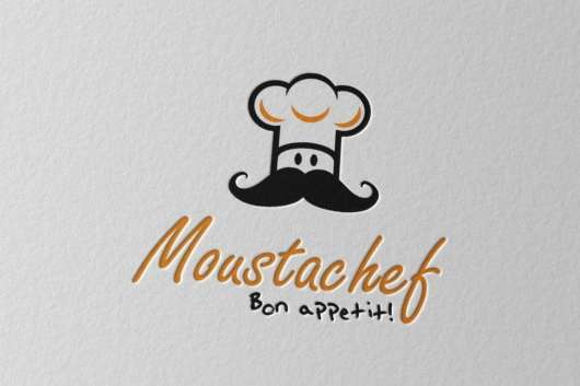 Moustachef Logo Template