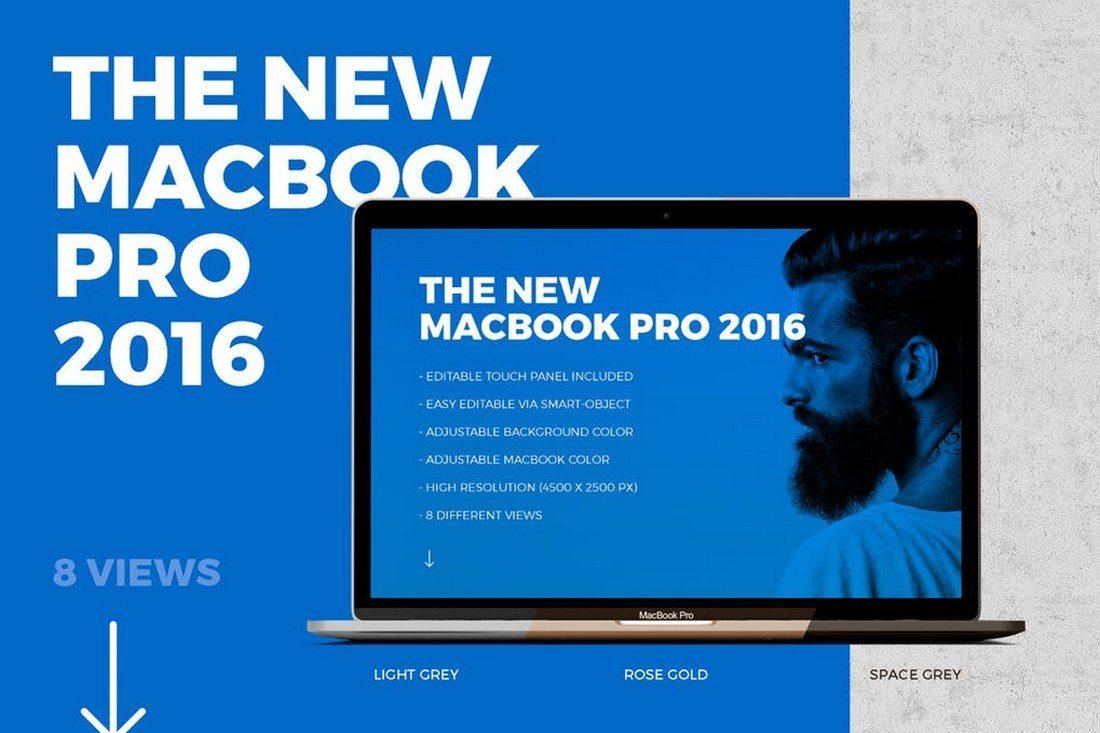100+ MacBook PSD & Vector Mockups 33