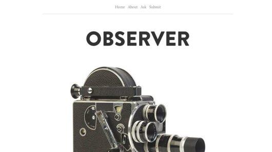 Observer-Free-Tumblr-Theme
