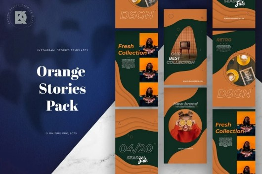 Orange Instagram Stories Pack