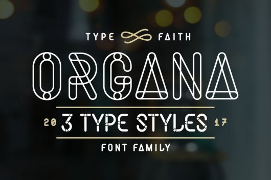 Organa Caps - Stencil Font