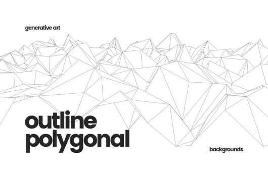 Outline Geometric Polygonal Backgrounds