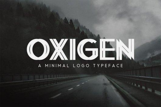Oxigen - Minimal Logo Typeface