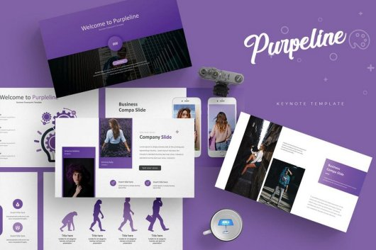 Purpleline - Keynote Template