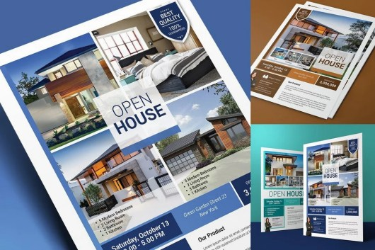 Real Estate & Open House Flyer Template