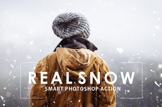 Real Snow Christmas Photoshop Action