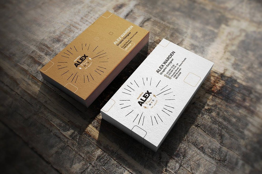 This High Quality Business Card Mockup Comes With A Real Photo Background Which You Can Easily Change If Want To The Is Also Fully Layered