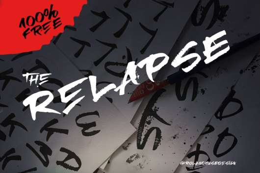 Relapse – A Handmade Free Font