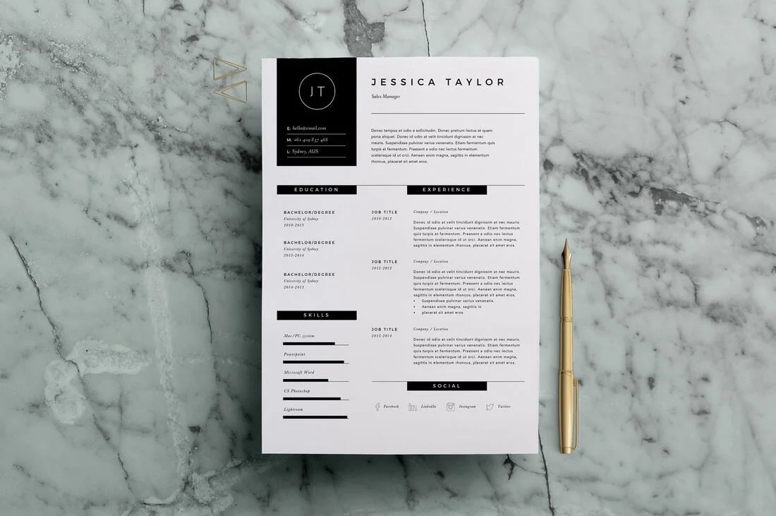 The Best CV & Resume Templates: 50 Examples 22