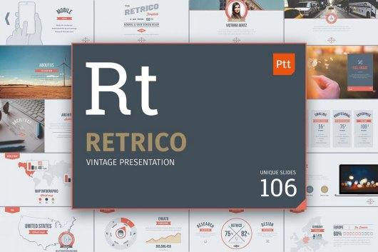Retrico - Vintage Slides PowerPoint Template