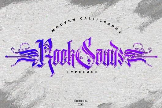 RockSands - Modern Tattoo Font