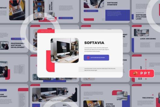 SOFTAVIA - SaaS Business Powerpoint Template