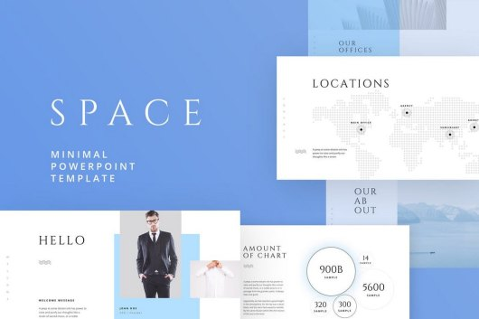 SPACE - Minimal & Simple Powerpoint Template