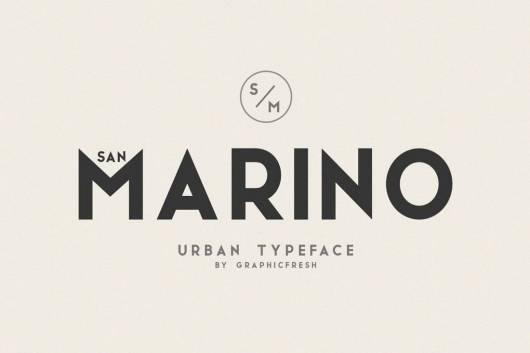 San Marino - Urban Font Family